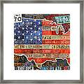 Travel The Usa One Plate At A Time License Plate Art By Design Turnpike Framed Print