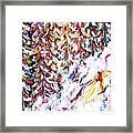 Trees To Celerina - St Moritz Framed Print