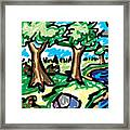 Trees W Water Ddl Framed Print