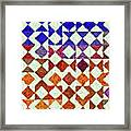 Triangles Impressionism Painting Framed Print