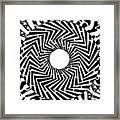 Trippy Optical Illusion Swirly Maze  Framed Print
