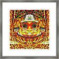 Bizzarre Pumpkin Head Framed Print