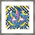 Tropical Banana Pink   Framed Print