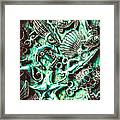 Tropical Bay Elements Framed Print