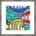 Tropical Fish Swim Framed Print