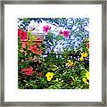 Tropical Flower Branches Framed Print