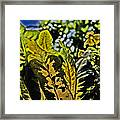 Tropical Foliage A-la Monet Framed Print