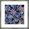 Tropical Leaf Pattern 4 Framed Print