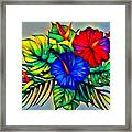 Tropical Neon Boutique  Framed Print