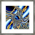 Tubes Of Blue And Gold Framed Print