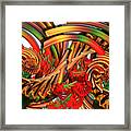 Tubular Rainbow Framed Print