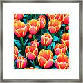 Tulips In Holland Framed Print
