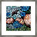 Turquoise Stone Framed Print