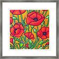 Tuscan Poppies - Crop 2 Framed Print