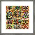 Twelve Hamsas Framed Print