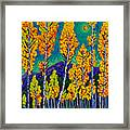 Twilight Aspens Framed Print