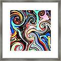 Twisted Lines Framed Print