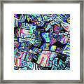 Twisted Text And Colors Framed Print