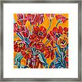 Two Bunches Of Red Tulips Framed Print