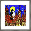 Two Cats On The Roof Framed Print