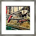 Two Red Wrenches On Plumber's Workbench Framed Print