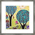 Two Trees Two Birds Landscape Framed Print