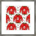 Ugly Christmas Sweater Pattern Framed Print