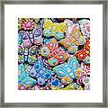 Unique Colorful Honey Cookies , Butterfly Shaped  Framed Print