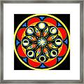 Universal Light  Mandala Framed Print by Pam Ellis