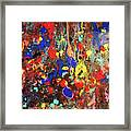 Universe Spaces Splash Framed Print