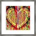 Unsettled Heart Framed Print by Fania Simon