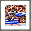 Usaf Afterburner Monster Jam Framed Print