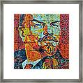 V. I. Ulyanov. Mosaic. Sochi Park. Framed Print
