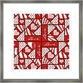 Valentine 4 Square Quilt Block Framed Print