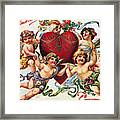 Valentines Day Card Framed Print