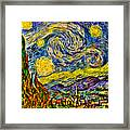 Van Gogh's 'starry Night' - Hdr Framed Print