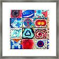 Variety Of Space Galaxies Stars Anomalies. Part 3 Framed Print