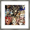 Venice Masks Framed Print