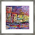 Venice Reflections Celebrating Italy Painting Framed Print by Ginette Callaway