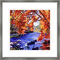 Vermont River Framed Print