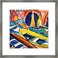 Up Close Skiffs Of Manarola  Framed Print