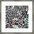 Vertical Graphic Layers Framed Print