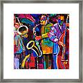 Vibrant Jazz Framed Print
