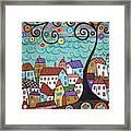 Village By The Sea Framed Print by Karla Gerard