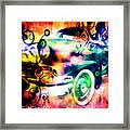 Vintage Car 1 Neons Edition Framed Print