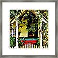 Vintage Garden Arbor Gate Framed Print