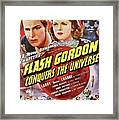 Vintage Movie Posters, Flash Godon Conquers The Universe Framed Print
