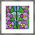 Vintage Violets Framed Print