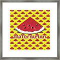 W Is For Watermelon Framed Print