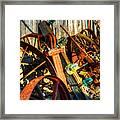 Wagons Whoa Framed Print
